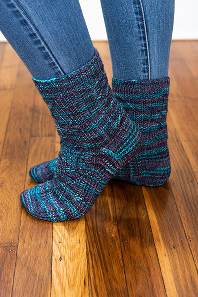 Flowing Rivers Socks Pattern