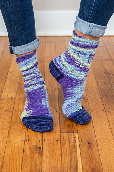 Vinca Socks Pattern