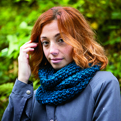 Seed Stitch Cowl and Hood Pattern