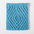 Rippling Diamonds Dishcloth Pattern