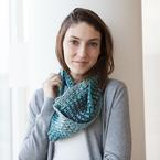 Chromatic Granny Stripe Cowl Pattern