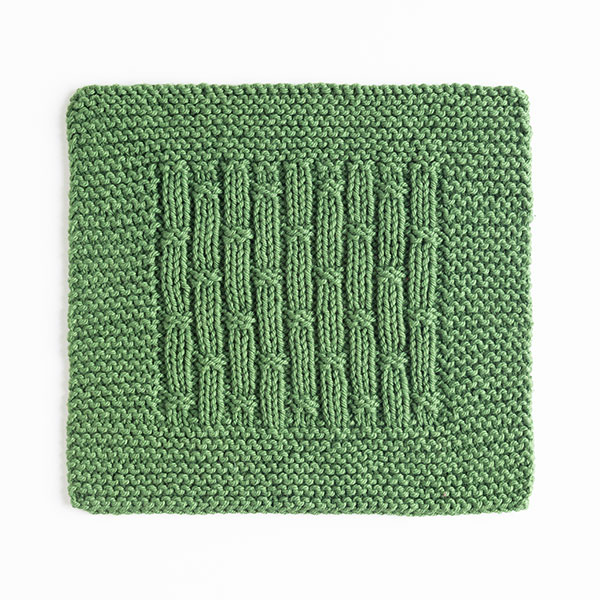 Bamboo Rib Dishcloth Pattern