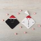Snowman and Sassy Coal Dishcloths Pattern