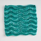 Ridged Feather Dishcloth Pattern
