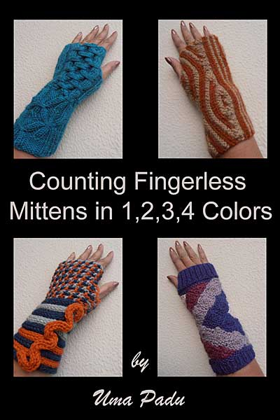 Counting Fingerless Mittens in 1, 2, 3, 4 Colors eBook