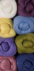 Pastels Wool Roving Pack
