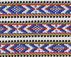 Folkloric Cotton Ribbon blue/white