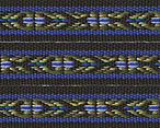 Folkloric Cotton Ribbon  blue/grn