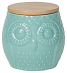 Owl Canister Turquoise