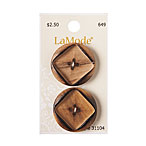 Tan Rustic Wood Button, 28mm
