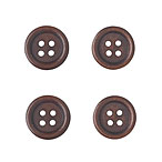 Dark Wood Buttons, 15mm