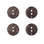 Coconut Buttons, 15mm