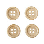 Light Wood Buttons, 15mm