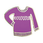 Sweater Enamel Pin