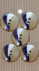 Handmade Blue and White Swirl Handmade Buttons