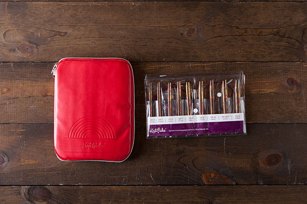 Interchangeable Needle Set and Embossed Case - Rainbow