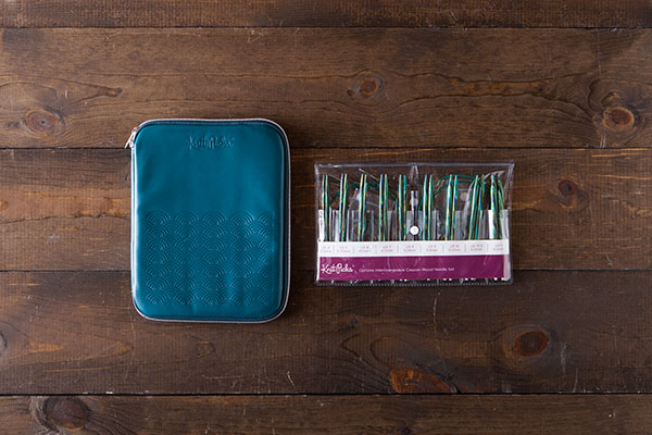 Interchangeable Needle Set and Embossed Case - Caspian