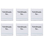 Handmade By Labels - set of 6 Square
