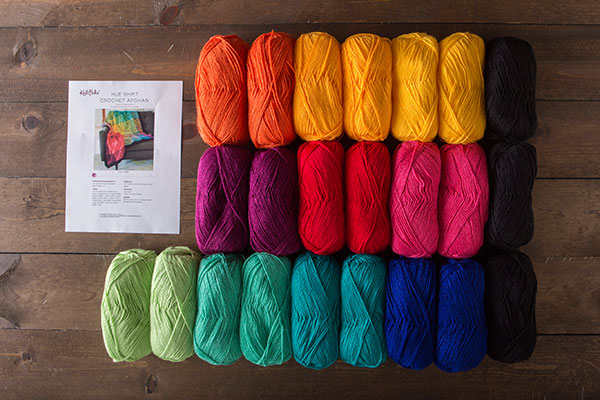Hue Shift Crochet Kit - Rainbow