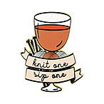 Knit One Sip One Enamel Pin
