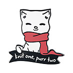 Knit One, Purr Two Enamel Pin