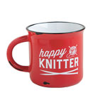 Happy Knitter Camping Mug - Red